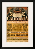 Union Central Pacific, California Framed Giclee Print