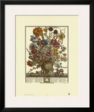 Twelve Months of Flowers, 1730, March Poster by Robert Furber