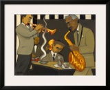 Sound Check Framed Giclee Print by Marsha Hammel