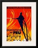Exposition du Feu Framed Giclee Print