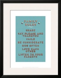 Family Rules Framed Giclee Print