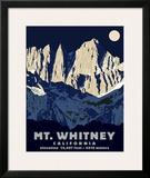 Mt. Whitney (Night) Framed Giclee Print by Steve Forney