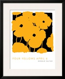 Four Yellows, April 6 2005 Poster by Donald Sultan