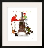 Coal Season's Coming Prints by Norman Rockwell