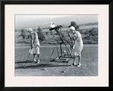 Golf Robot Framed Giclee Print