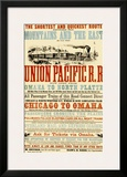 Union Pacific, Chicago to Montana Framed Giclee Print