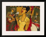 The Recording Session Framed Giclee Print by Marsha Hammel