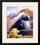 New York, Central Railroad Locomotive Framed Giclee Print