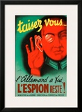 Taisez Vous Framed Giclee Print