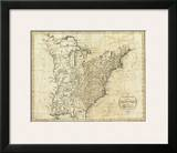 Map of the United States of America, c.1796 Posters by John Reid
