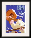 Canadian Pacific Great Lakes Cruise Framed Giclee Print