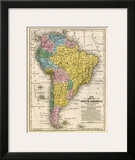 Map of South America, c.1839 Posters by Samuel Augustus Mitchell