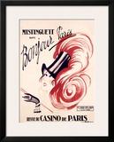 Mistinguett, Bonjour Paris Framed Giclee Print by Charles Gesmar