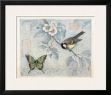 Blue Bird and Butterfly Posters by Susan Winget