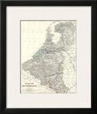 Belgium, Netherlands, c.1861 Posters by Alexander Keith Johnston