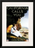 Union Pacific, California Calls Framed Giclee Print