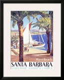 West Beach, Santa Barbara Framed Giclee Print