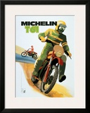 Michelin, T61 Motocross Tire Framed Giclee Print
