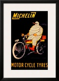 Michelin, Motorcycle Tire Framed Giclee Print