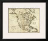 Map of North America, c.1796 Prints by John Reid