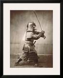 Samurai Brandishing Sword Print