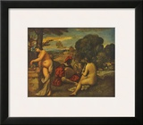 Rustic Concert Print by Giorgio Giorgione