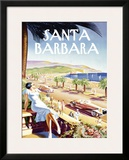 Santa Barbara Beach Resort Framed Giclee Print