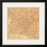 Mapa di Firenze, 1896 Posters by Lorenzo Fiore