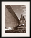 Sepia Sails I Poster by Cory Silken