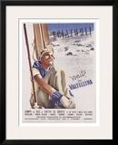 Valtellina, Sciatori Framed Giclee Print by  Romola