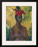 Woman with Parasol Posters by Boscoe Holder