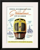 Union Pacific, Streamliner Denver Framed Giclee Print