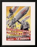 Lenin with Dirigibles Framed Giclee Print
