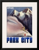 Park City Utah Mountain Framed Giclee Print