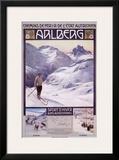 Arlberg Alpine Snow Ski Framed Giclee Print