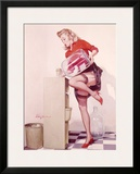 Pin-Up Girl: Sexy Office Framed Giclee Print by Gil Elvgren
