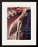 2nd Salone Automobile Italia Framed Giclee Print by Giuseppe Riccobaldi