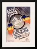 XXXIII Targa Florio Framed Giclee Print by  Lalia