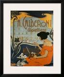 A Calderoni Gioiellerie, c.1898 Prints by Adolfo Hohenstein