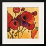 Poppies Wildly II Prints by Shirley Novak