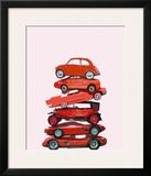 Car Stack II Framed Giclee Print by Ben James