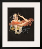Hawaiian Pin Up Girl c.1946 Framed Giclee Print by Billy Devorss