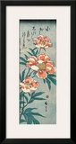 Peonies Framed Giclee Print by Ando Hiroshige