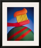 Toothbrush Framed Giclee Print by Frank Farrelly