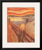 O Grito, cerca de 1893 Arte por Edvard Munch