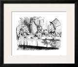 The Mad Hatter's Tea Party Framed Giclee Print by Sir John Tenniel
