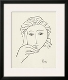 Woman's Face Sketch I Print by Simin Meykadeh