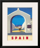 Spain Tourism c.1950s Framed Giclee Print by Guy Georget