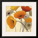 Pumpkin Poppies III Posters by Shirley Novak