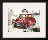 British Car Framed Giclee Print by Bresso Solá